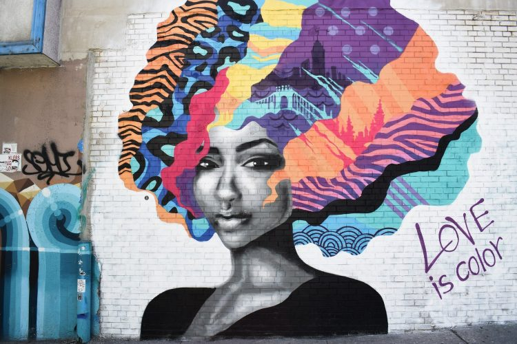 Graffiti of Woman, Brooklyn, NYC, USA (Chris Barbalis)